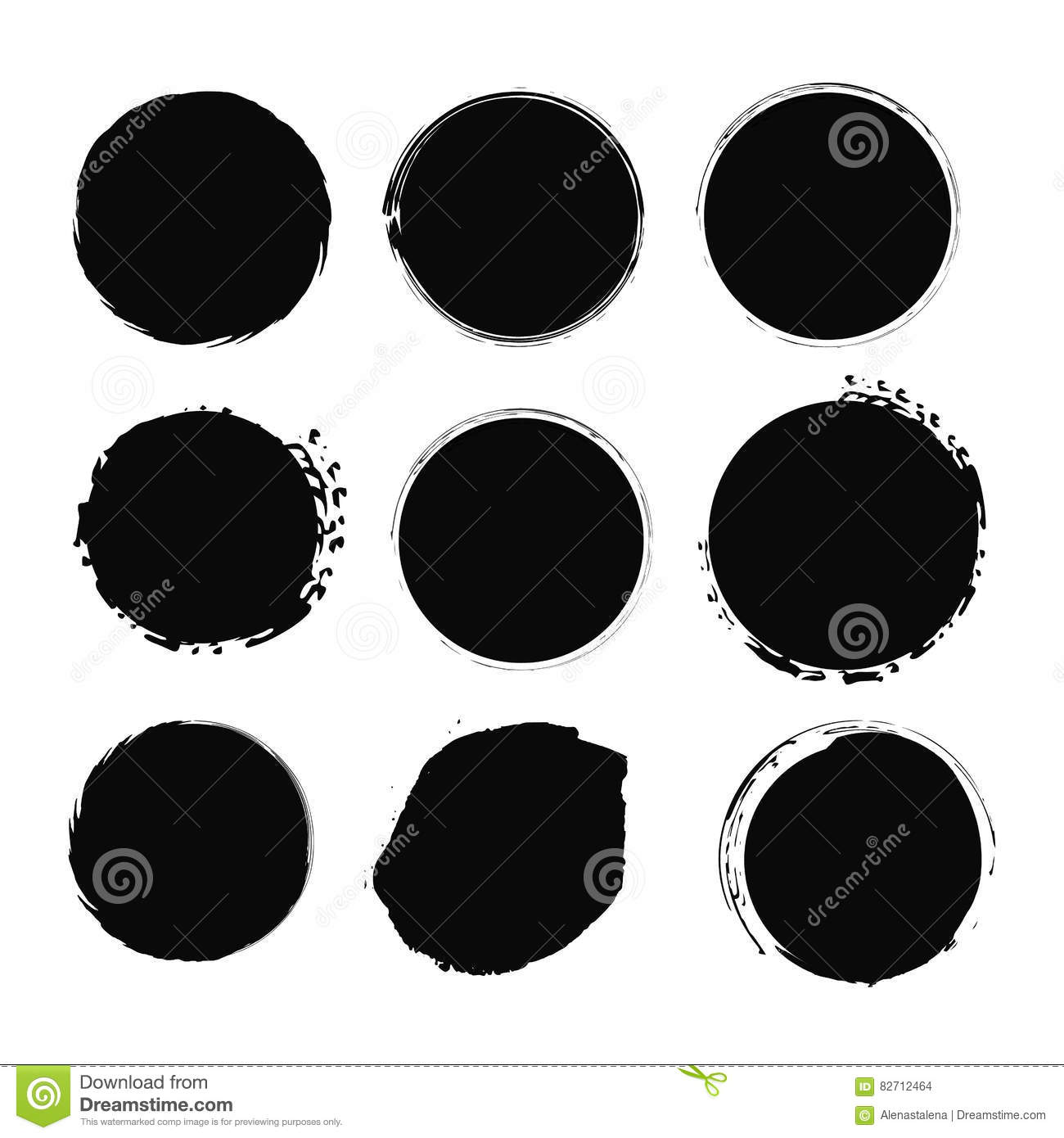 Vector grunge circle set. Grunge round shape for logos, banners, promotion, photo overlay