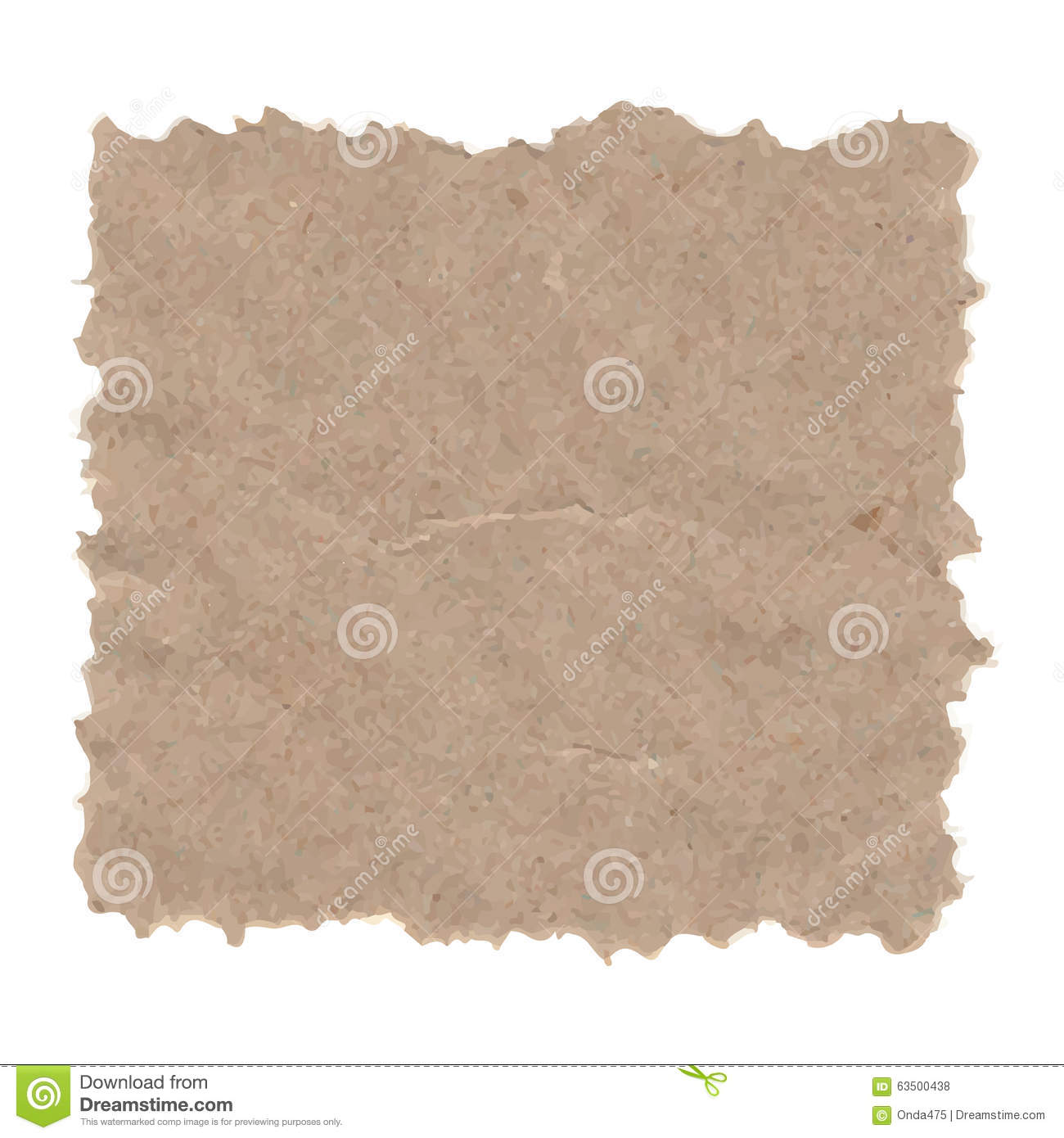 Vector Grunge Texture Of Recycled Paper. Stock Photo ...