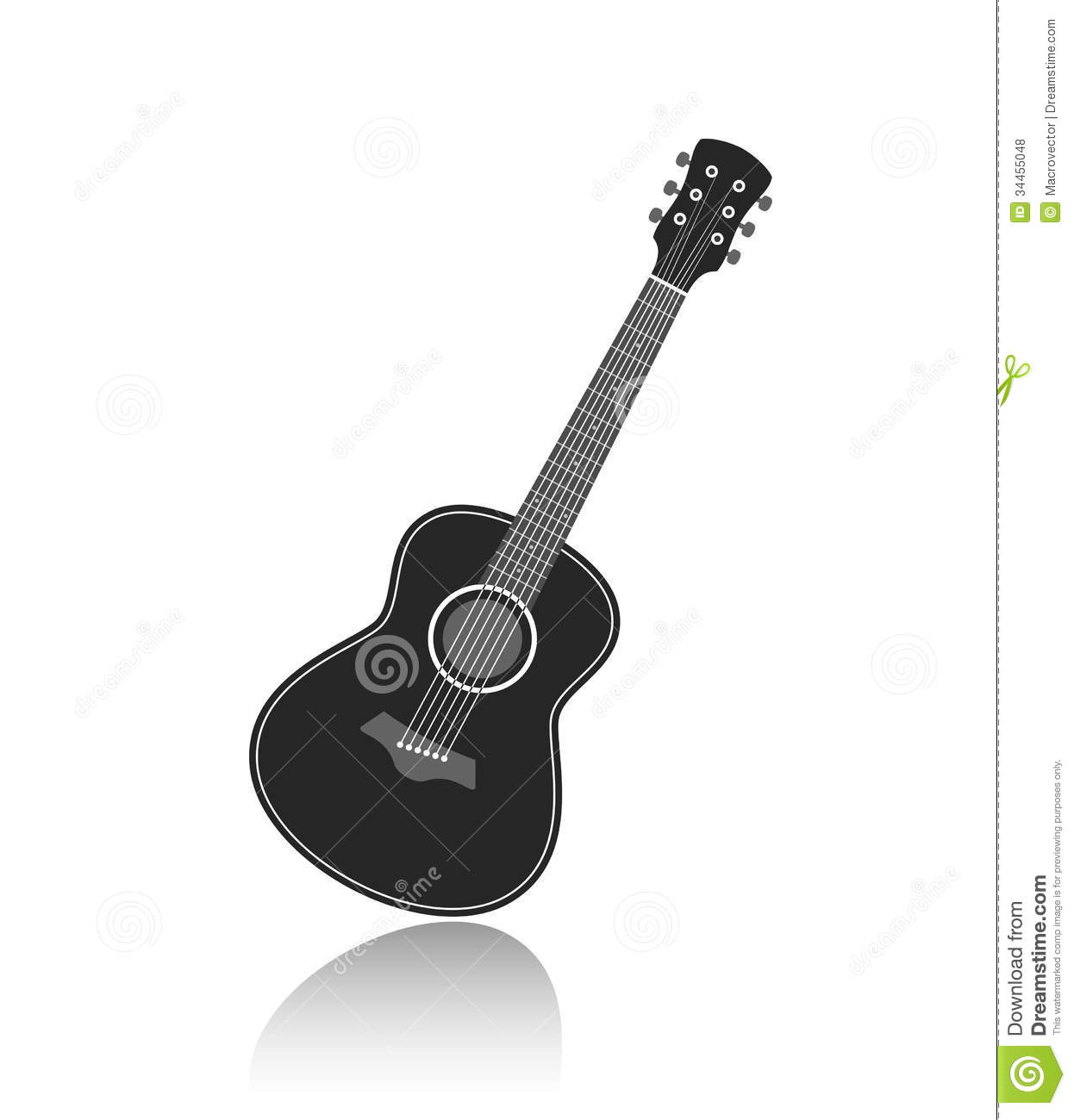 Vector Guitar Royalty ... Rock Clipart Black And White