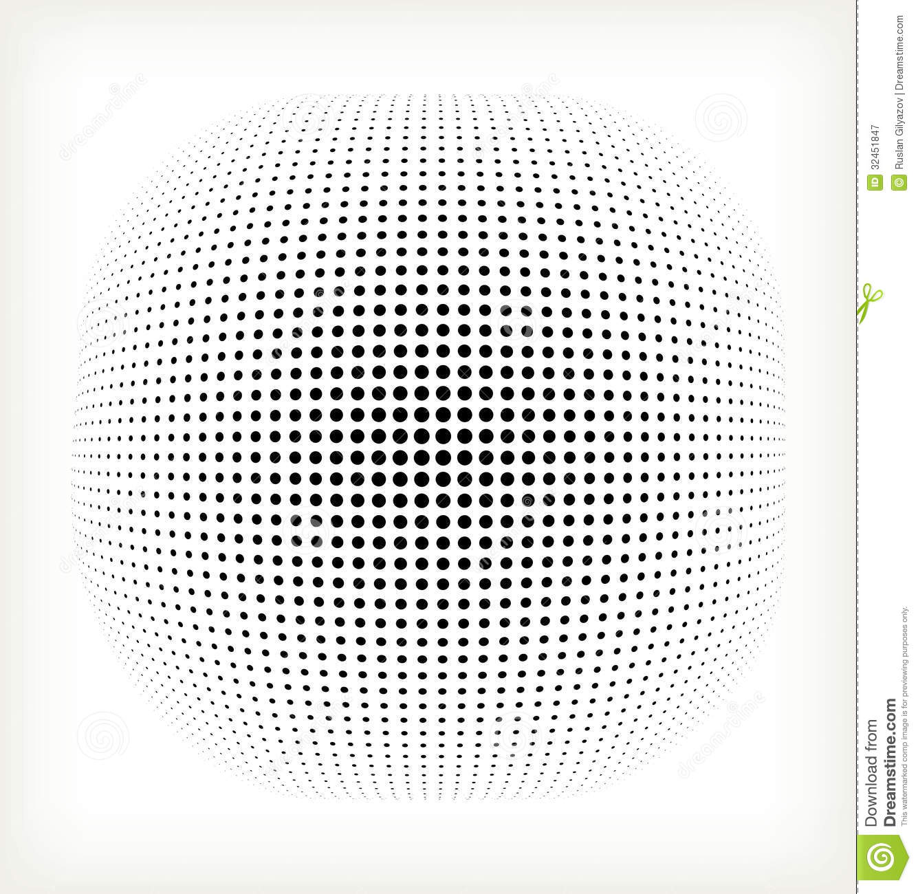 vector halftone circle stock vector  illustration of