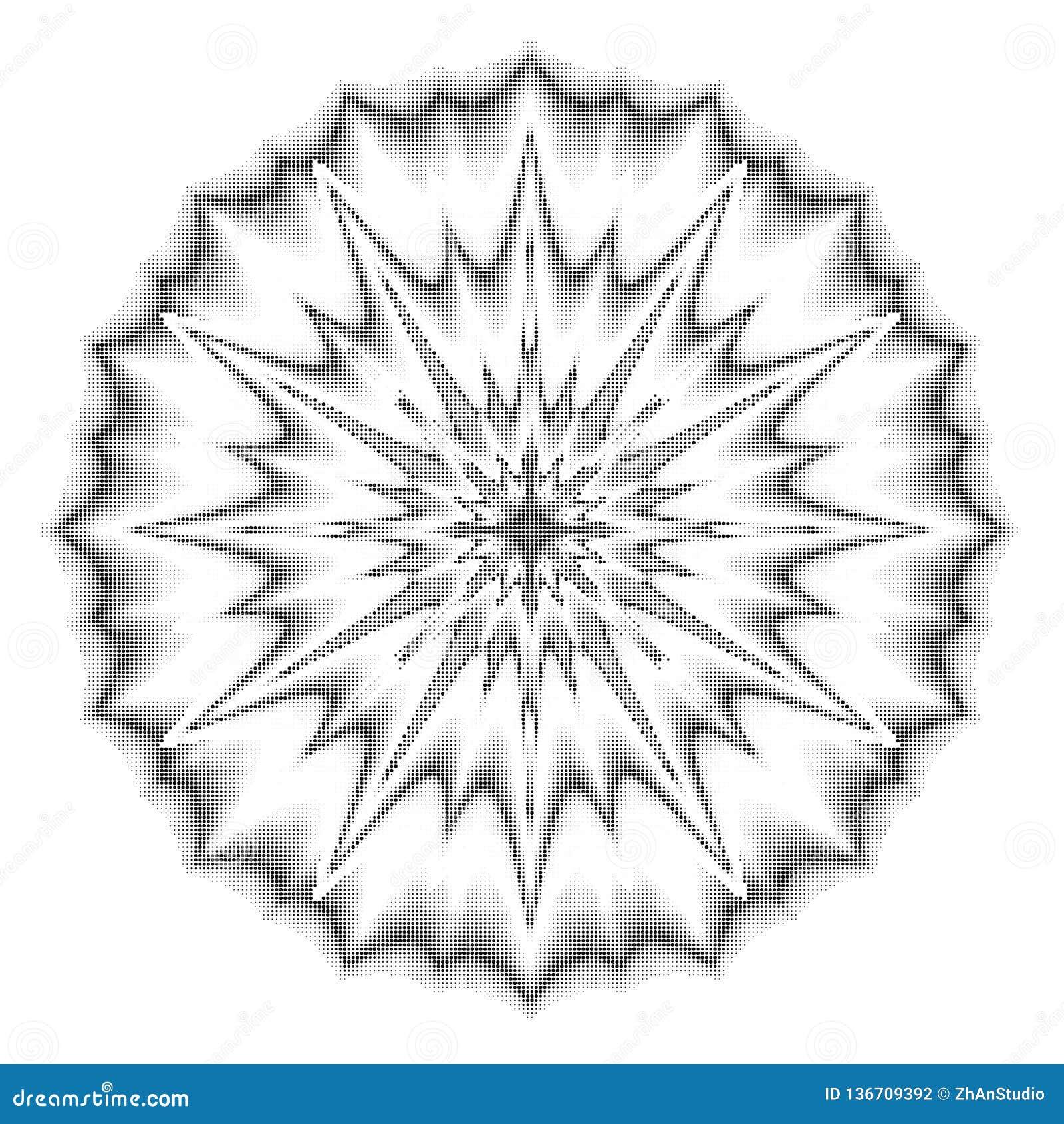 Vector halftone punten Zwarte punten op witte achtergrond textuur ro