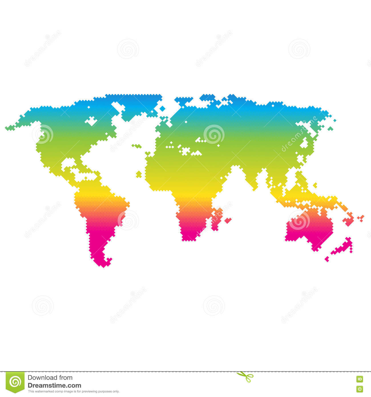 Vector halftone world map continents for your design stock vector download comp gumiabroncs Images