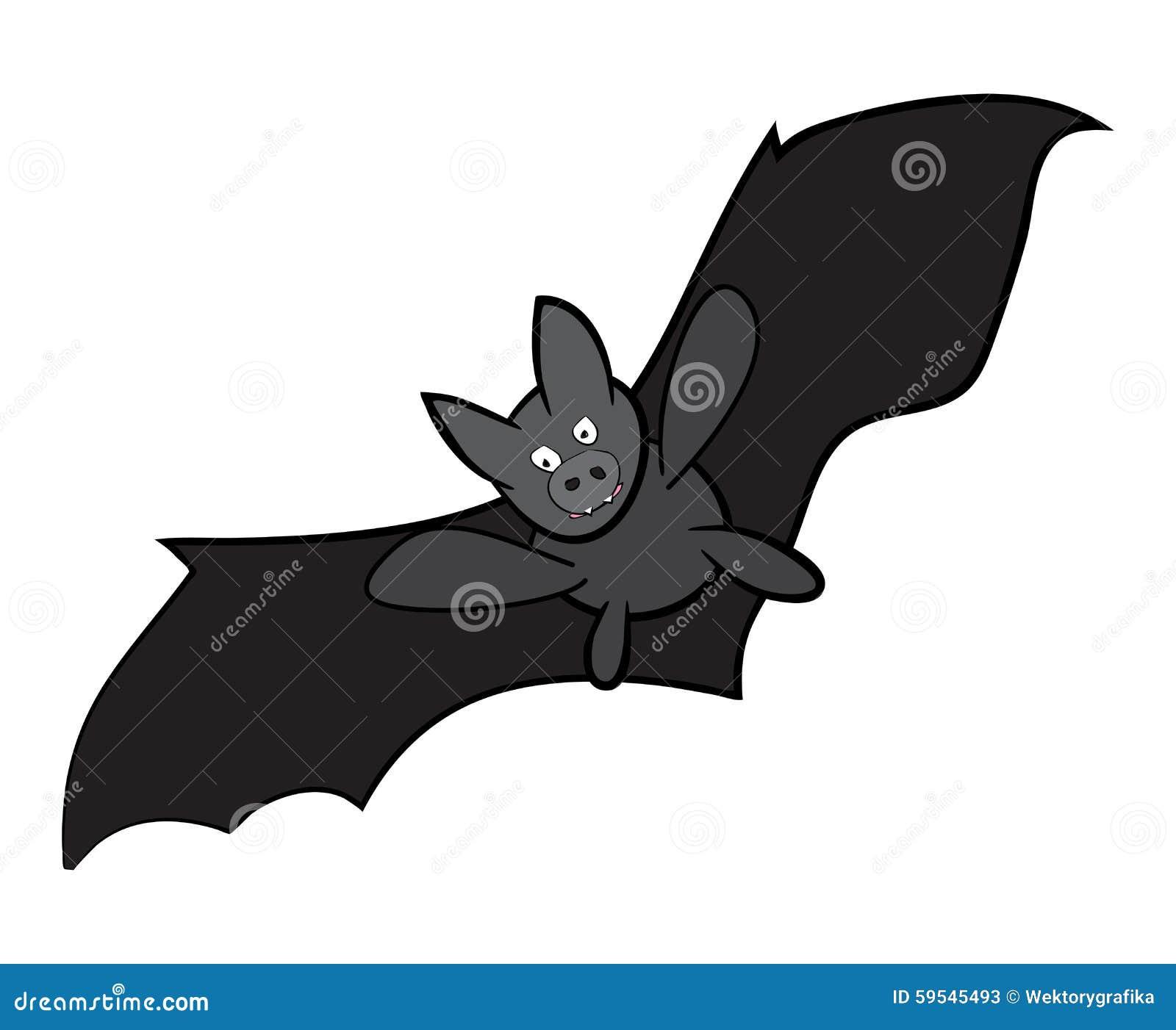 vector halloween bat cartoon illustration isolated on white