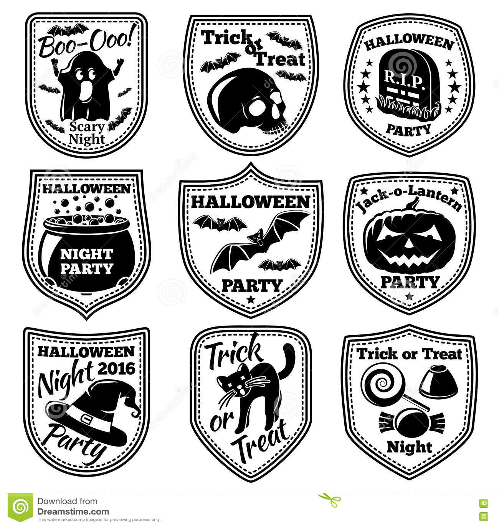 Halloween Pumpkin Witch Emblem Stock Illustration - Illustration of ...