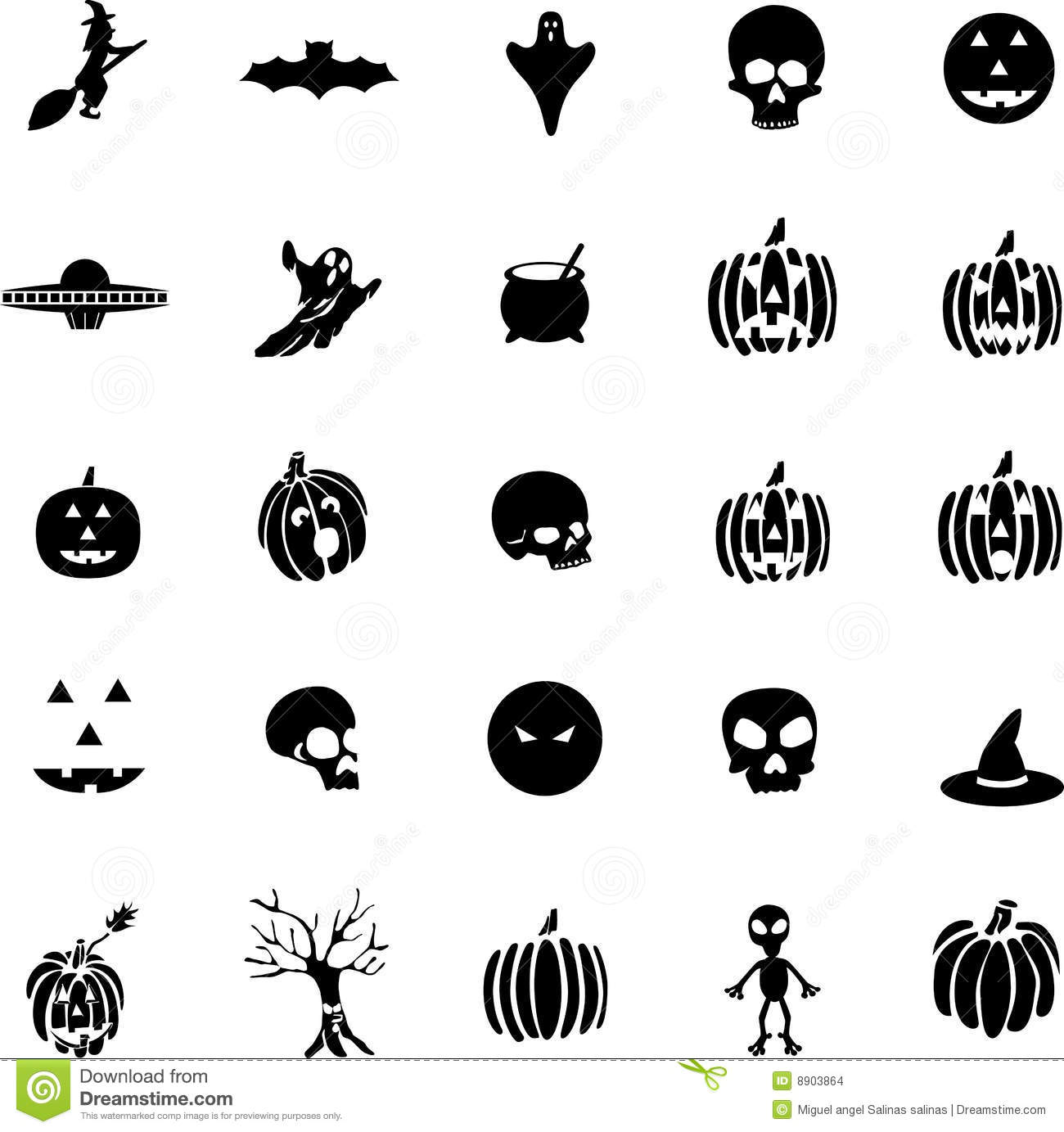 Stock Images Vector Halloween Symbols Witches Pumpkins Ghost Image8903864 on scary 3d halloween