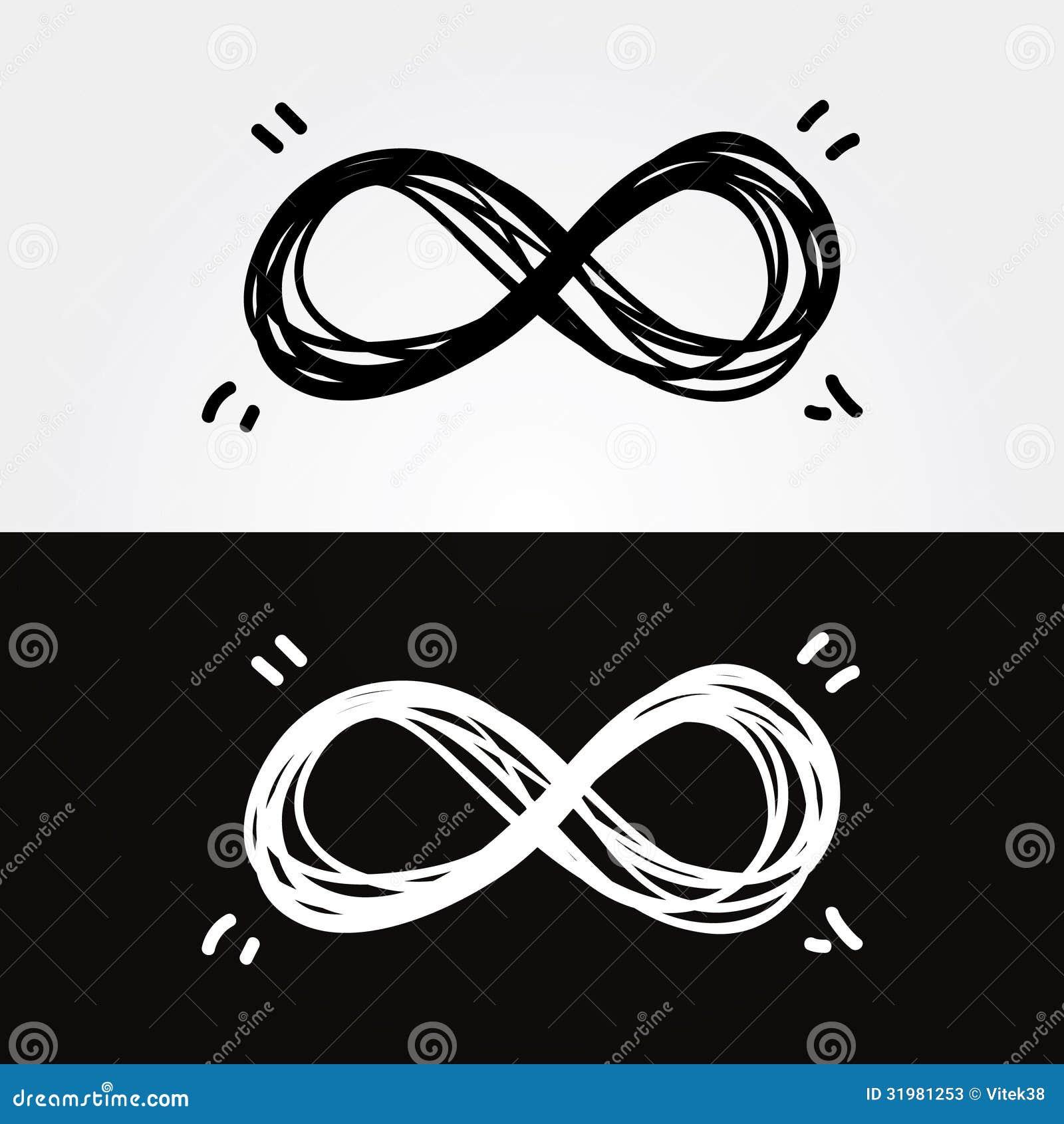 Vector hand draw infinity infinity symbol conceptual iconic vector hand draw infinity infinity symbol conceptual iconic biocorpaavc