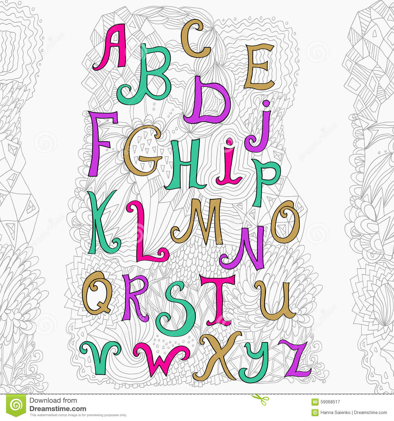 Vector Hand Drawn Alphabet On White Background And Cute Doodle ABC For Your Design Easy To Use Edit Letters