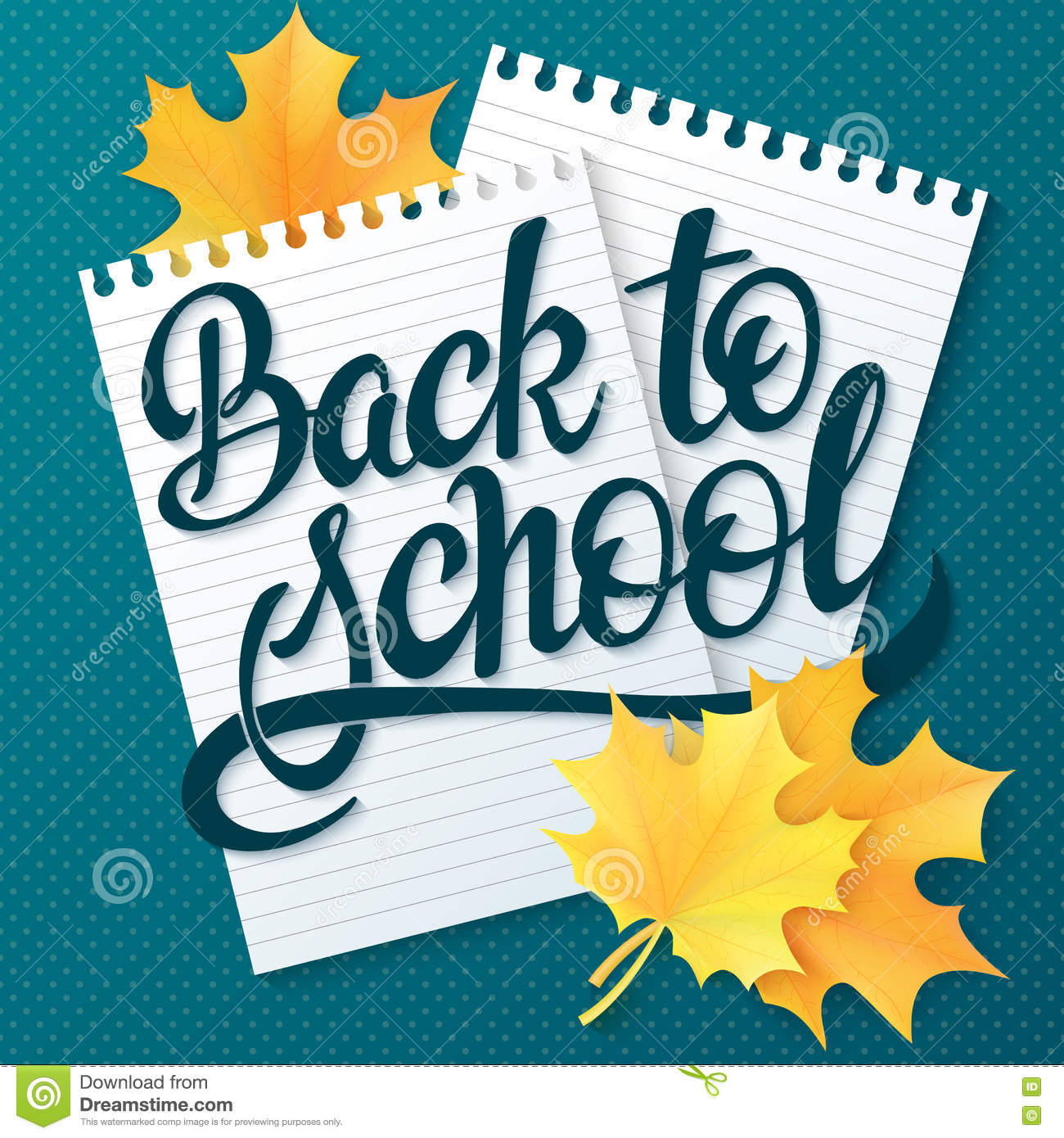 Vector Hand Drawn Back To School Lettering Greetings Label Back To