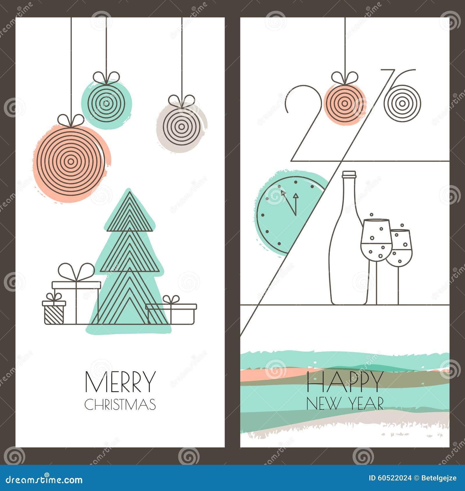 28 Set 6 Modern Stylish Greeting Card Stock Vector 582186070