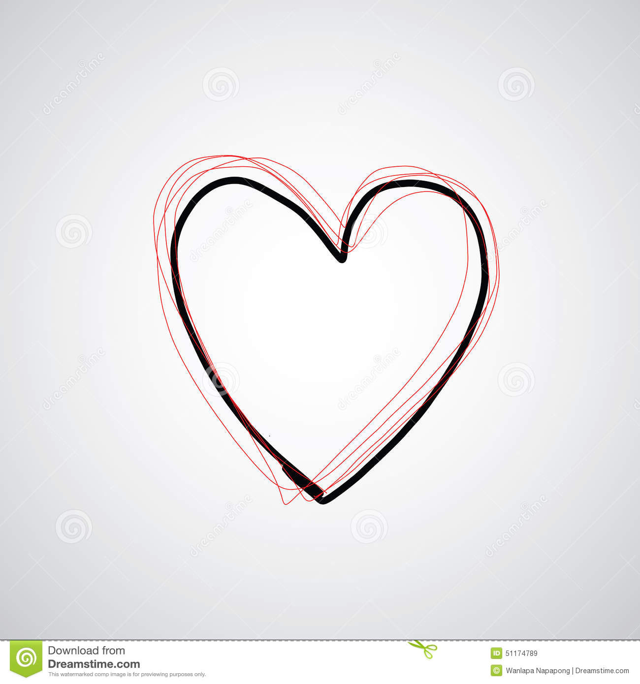 Vector Hand Drawn Heart Stock Illustration Of Sign