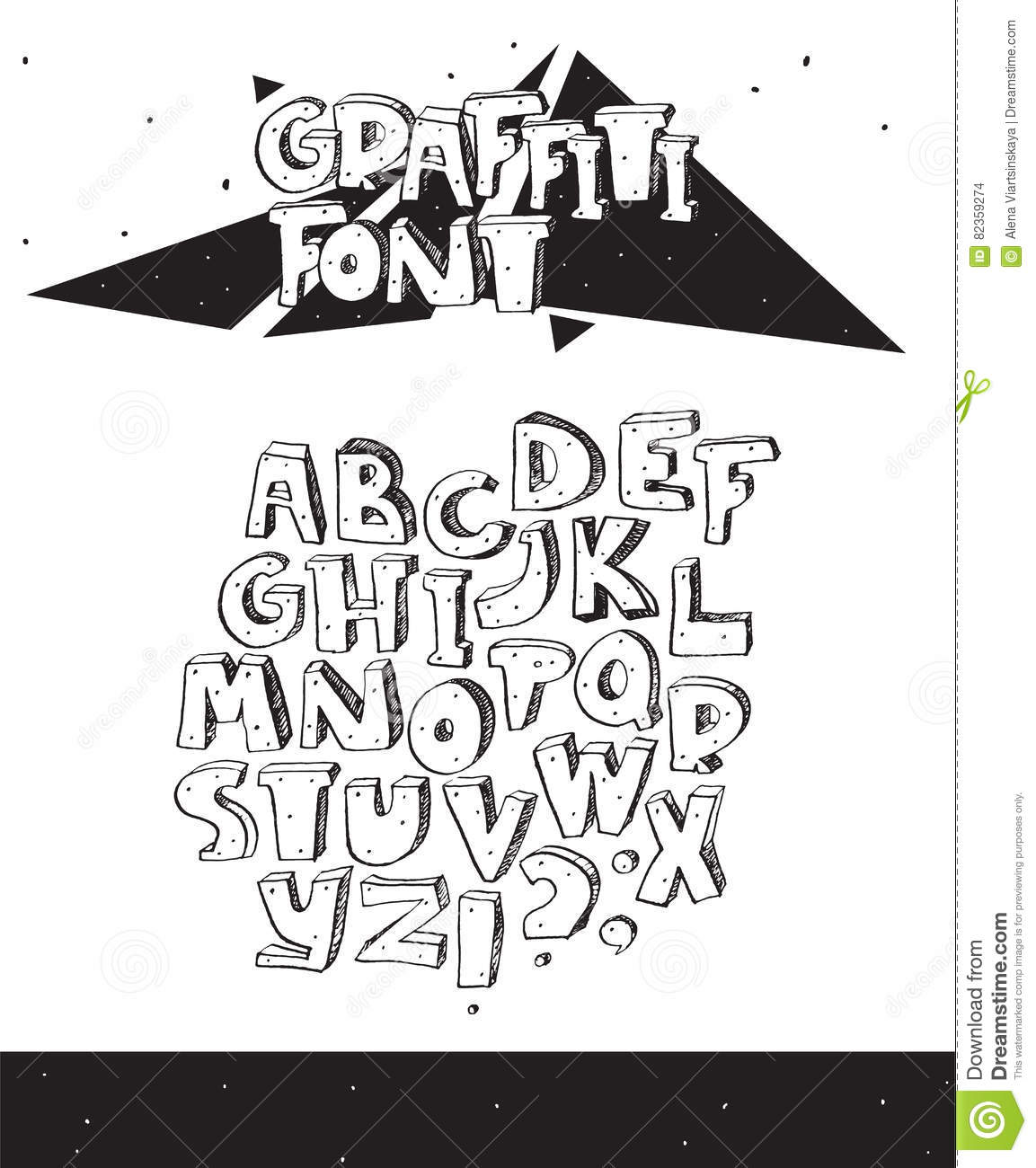 Vector Hand Drawn Illustration With Black And White Imperfect