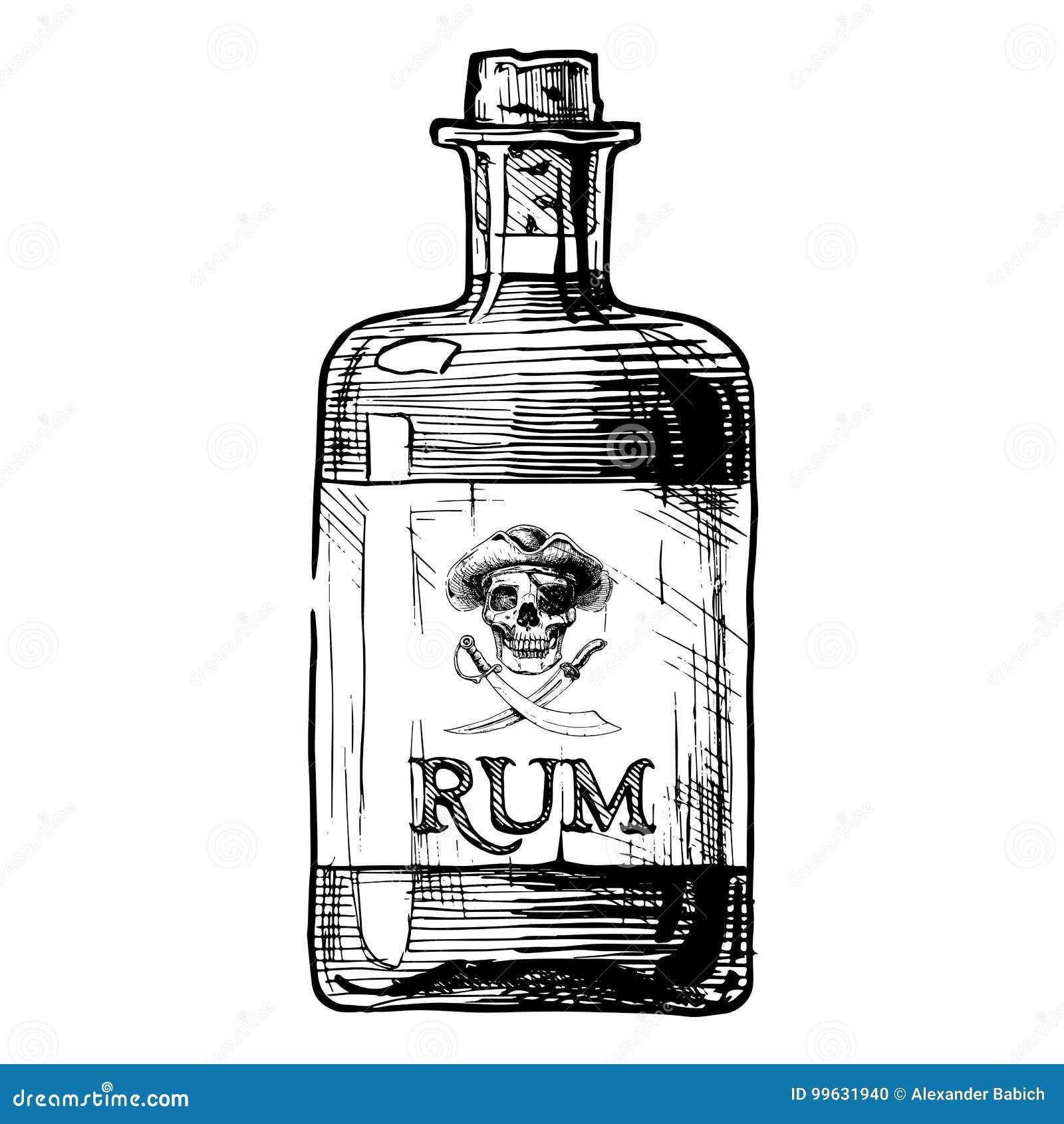 bottles of alcohol distilled beverage stock vector illustration