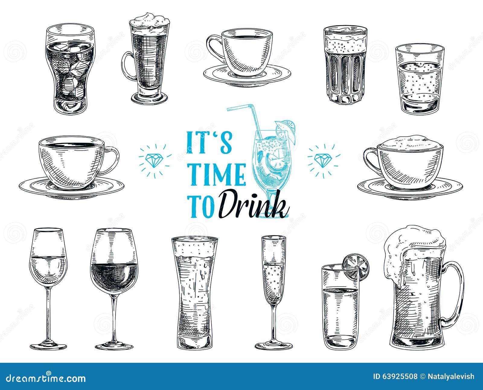 Hot Drink Design Sketch