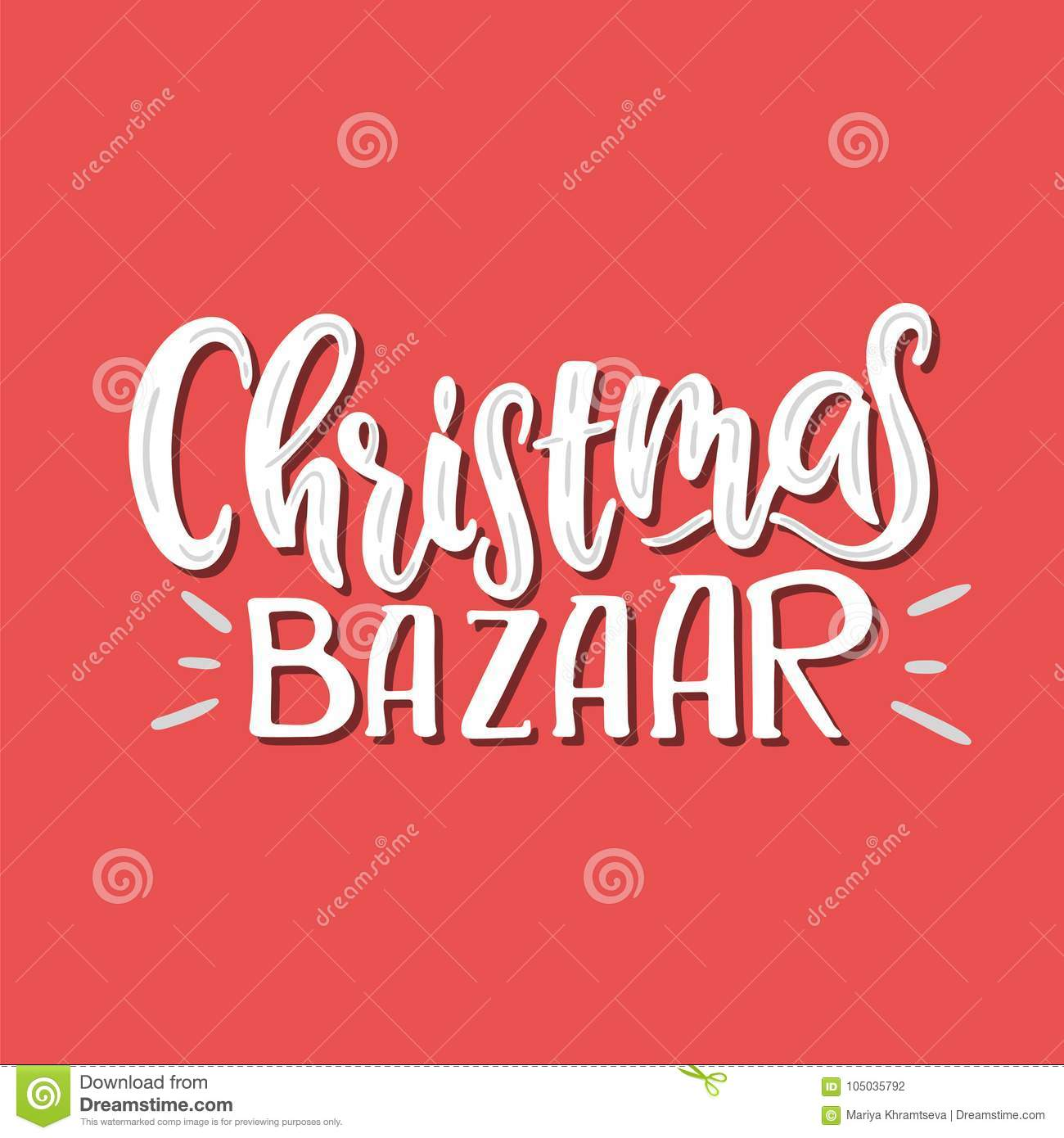 Vector christmas bazaar