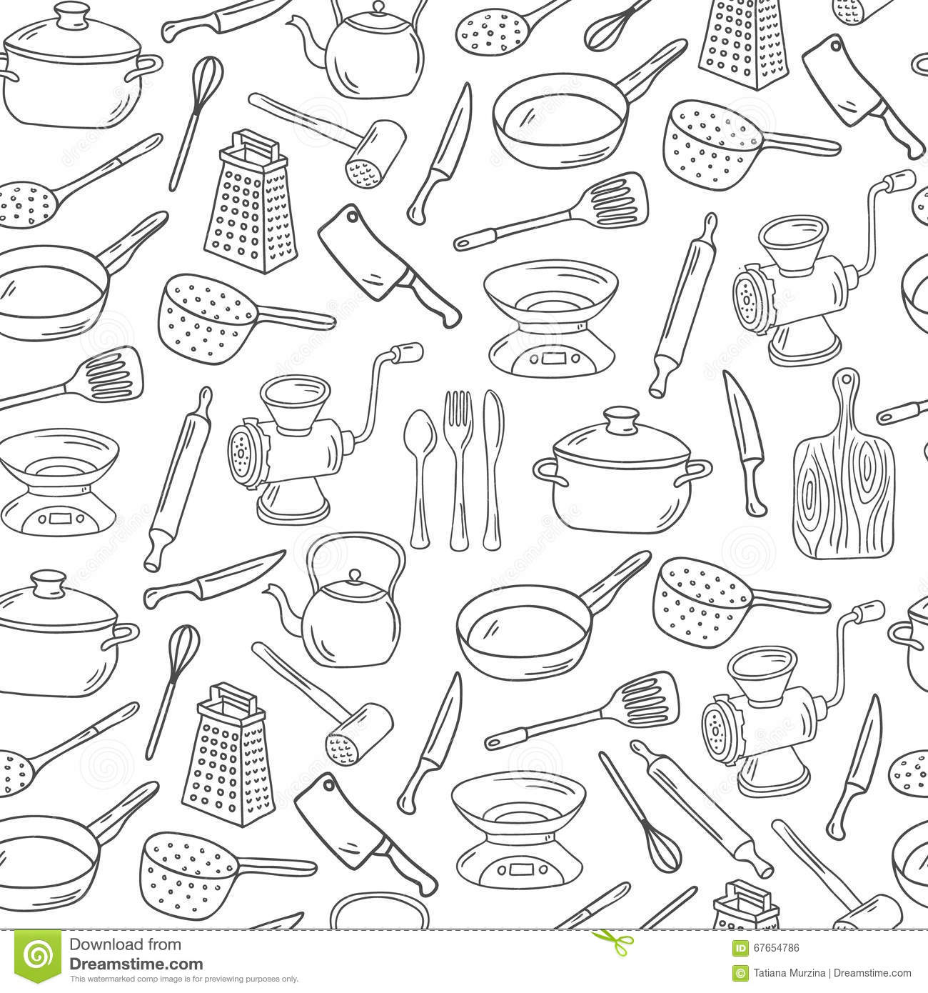 Kitchen Tools Drawings kitchen drawing stock images royalty free images vectors coloring