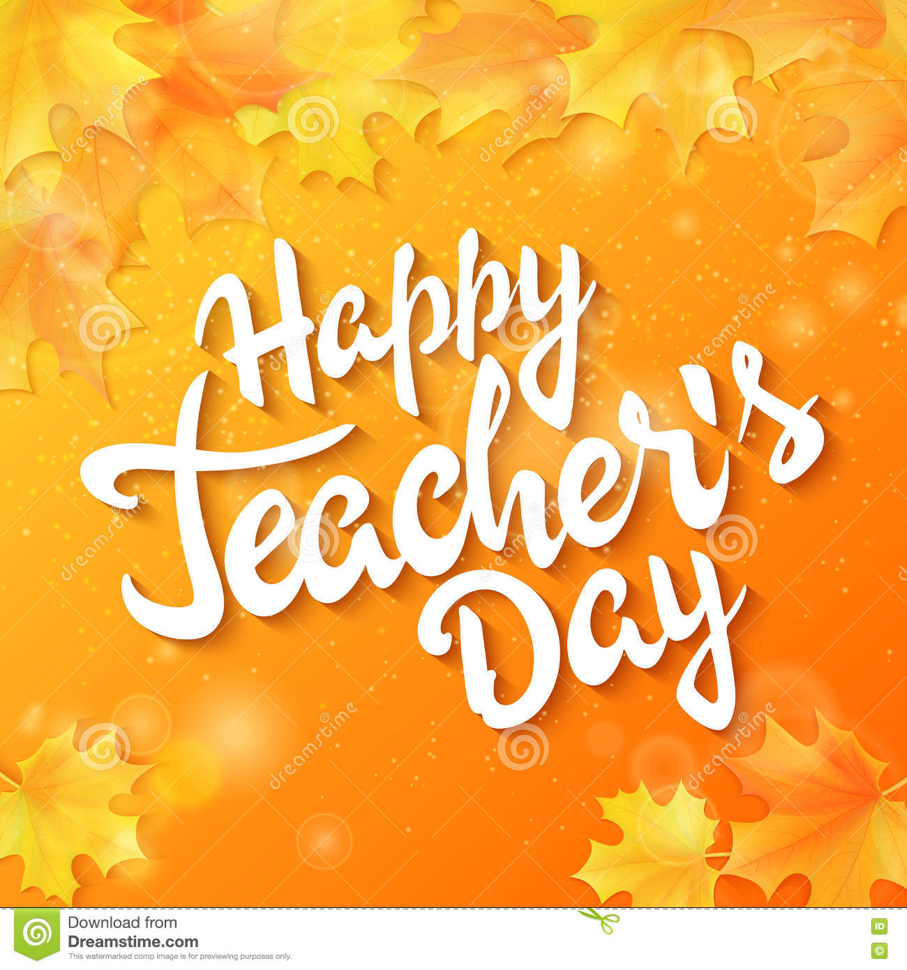 Vector hand drawn teachers day lettering greeting phrase happy vector hand drawn teachers day lettering greeting phrase happy teachers day with leaves and kristyandbryce Choice Image
