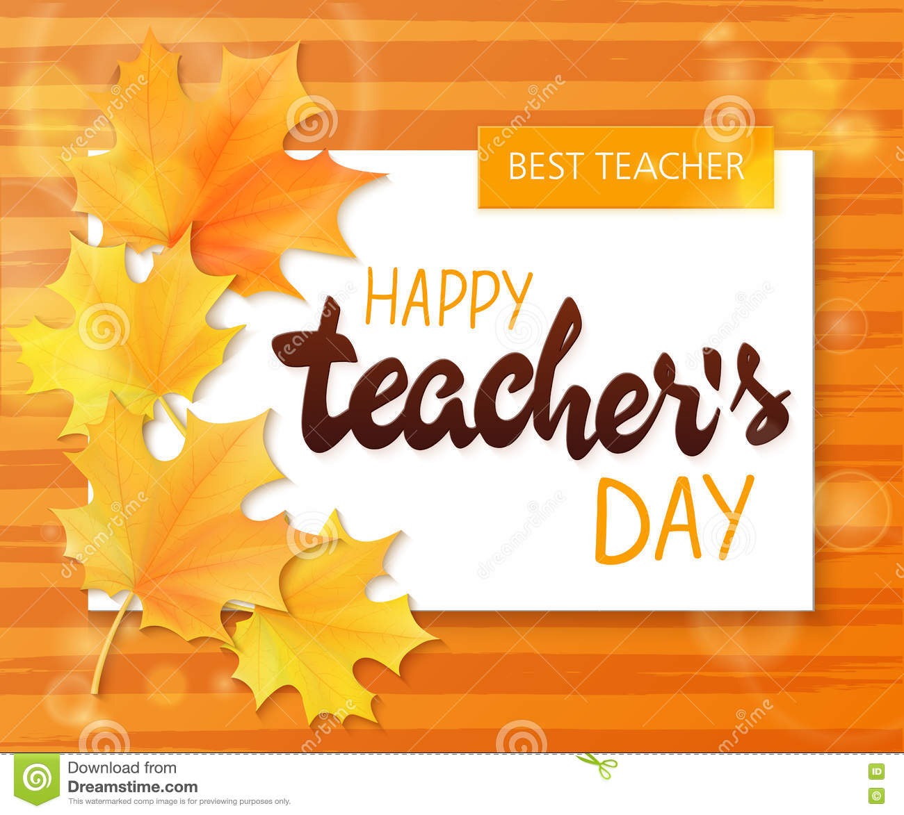 Vector hand drawn teachers day lettering greetings label happy vector hand drawn teachers day lettering greetings label happy teachers day with realistic paper pages autumn kristyandbryce Choice Image