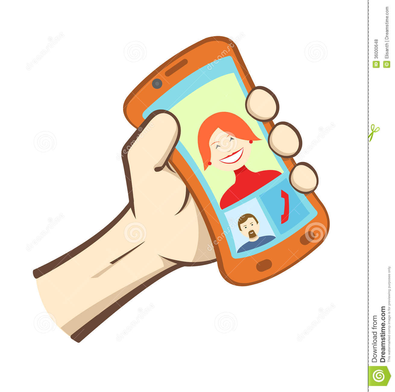 Vector Hand Holding Smart Phone Royalty Free Stock Photos ...