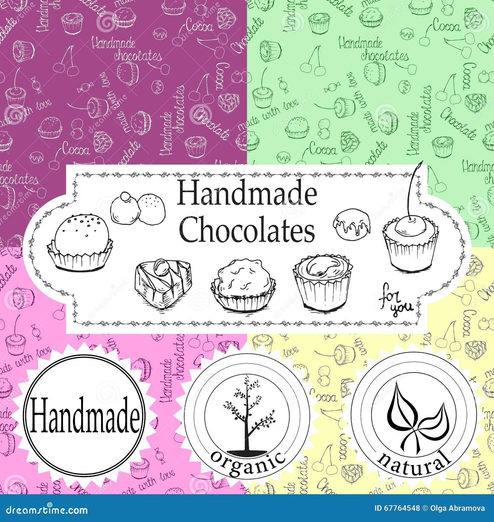 Vector handmade chocolates packaging templates and design elements vector handmade chocolates packaging templates and design elements for candy shop cardboard with emblems and maxwellsz