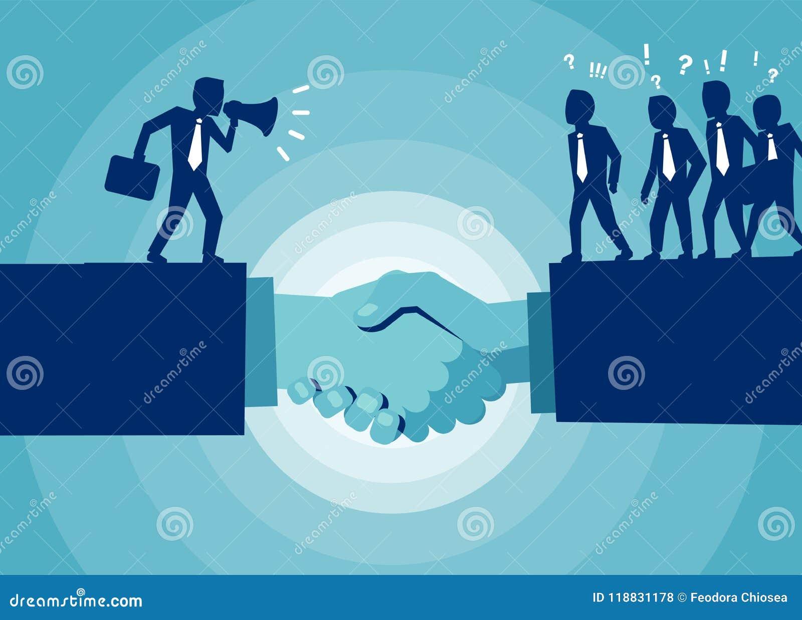 Flat Design Of People In Teamwork Stock Illustration Illustration
