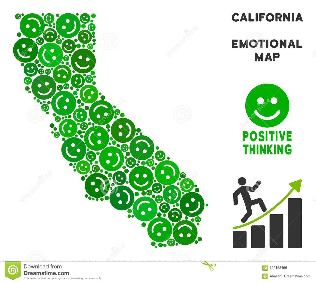 Map Of California Funny.Vector Happiness California Map Mosaic Of Smiles Stock Vector