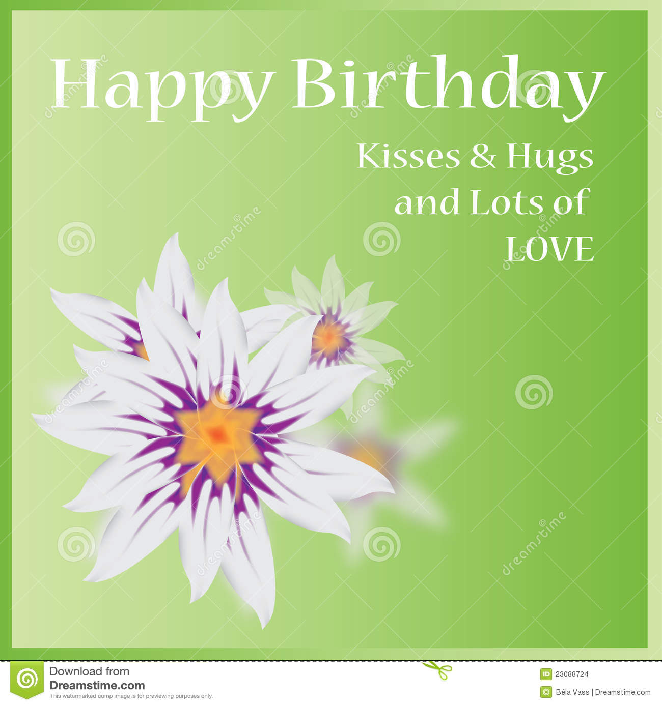 Vector Happy Birthday Card Images Image 23088724 – Green Birthday Card