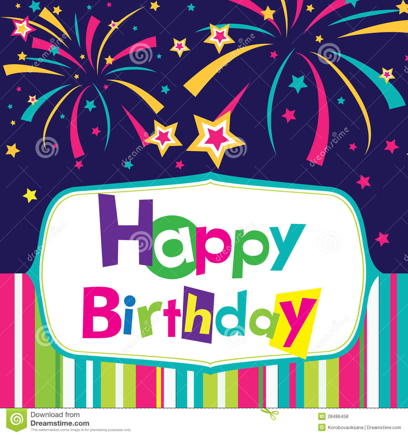 Vector happy birthday card stock vector Image of design 28486458 – Happy Birthday Cards Free