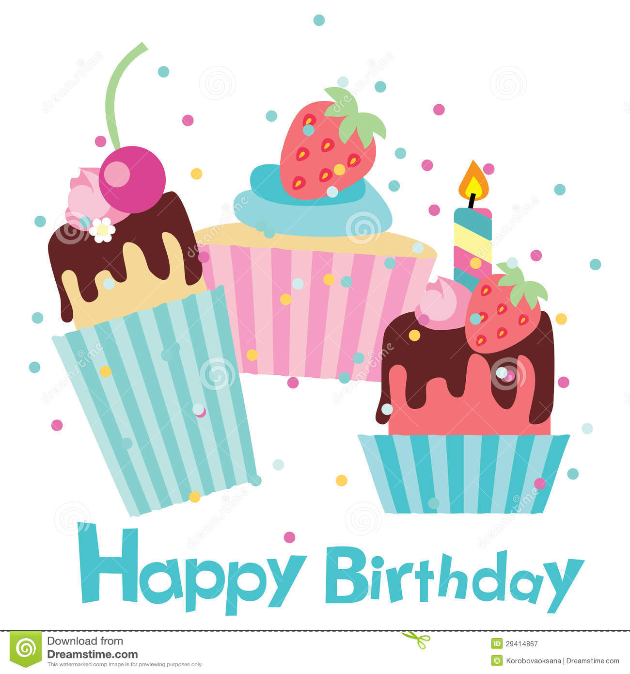 Royalty Free Birthday Images ~ Vector happy birthday card royalty free stock photography image