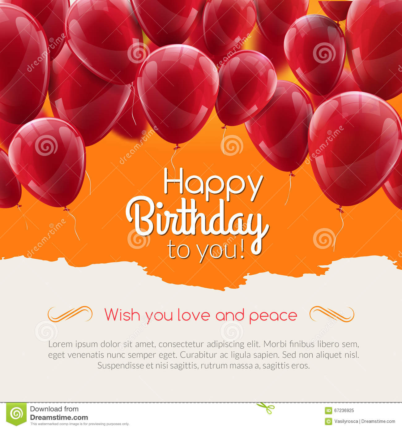 Vector Birthday Card With Red Ribbon And Birthday Vector – Vector Birthday Card