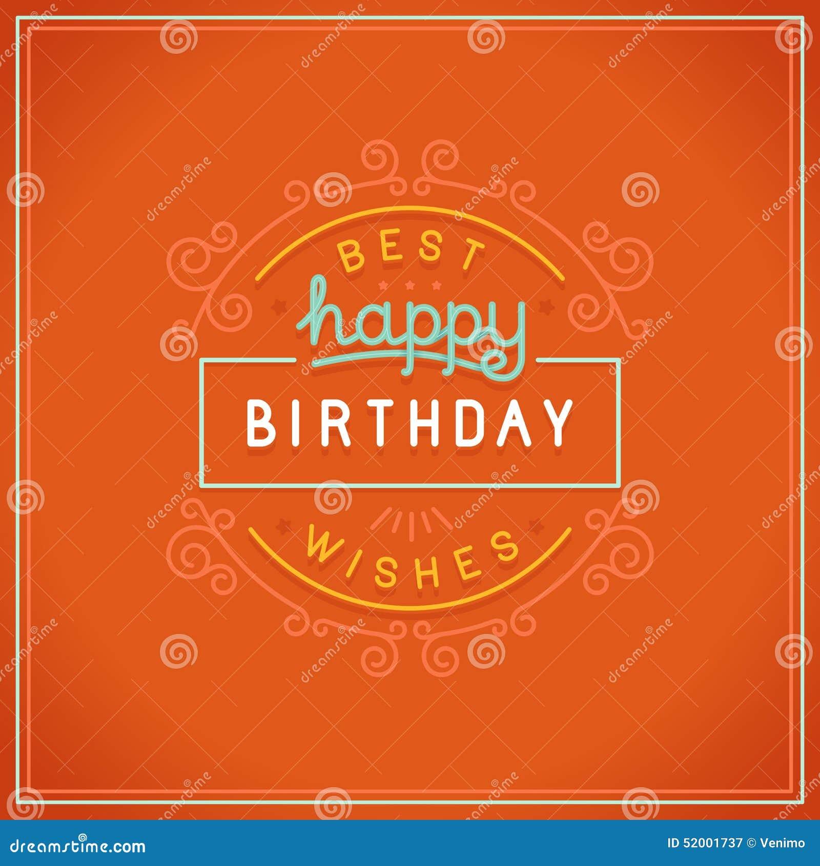 Vector Happy Birthday Greeting Card Design Stock Vector