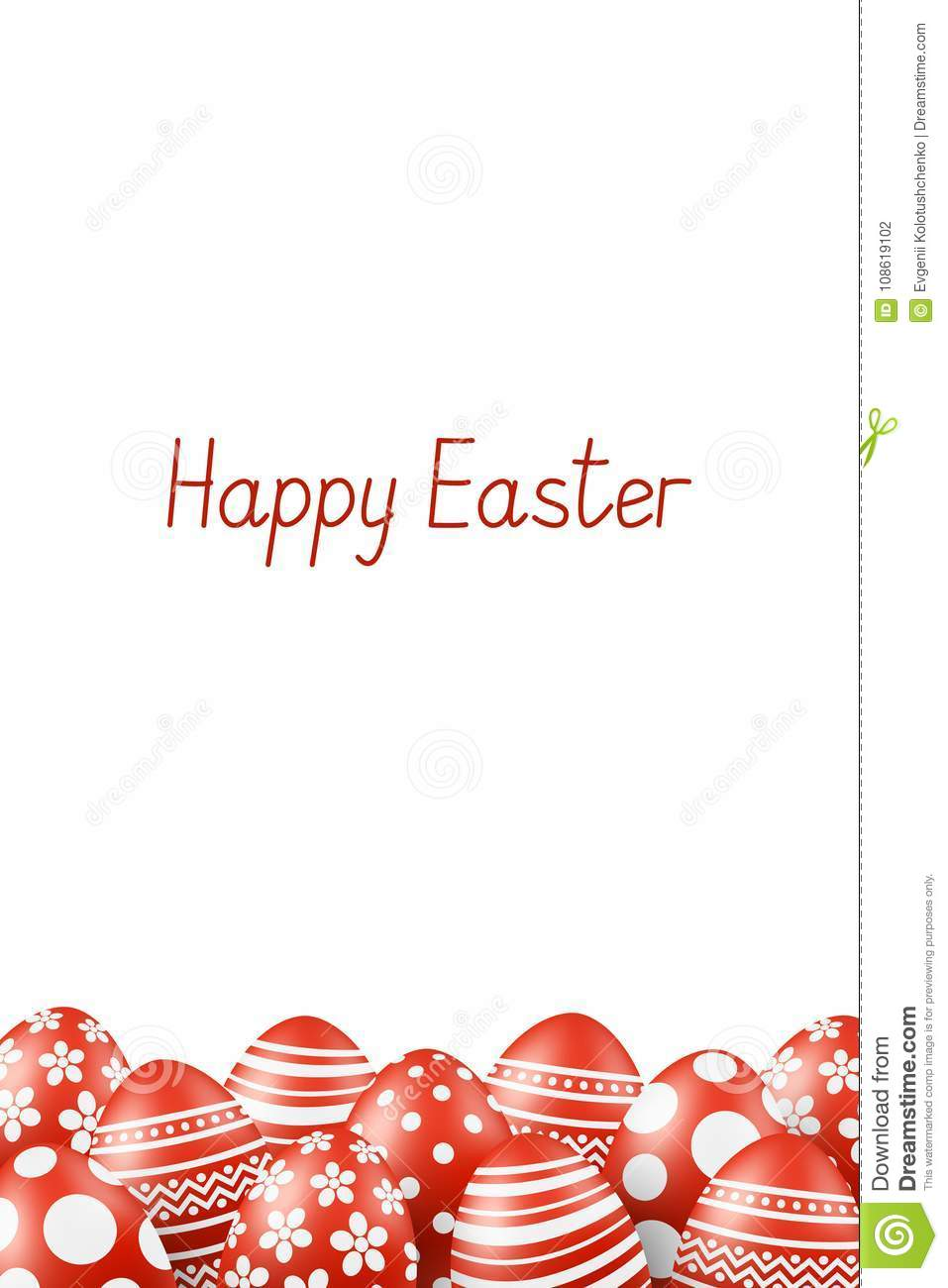 Vector happy easter greeting card with eggs stock vector vector happy easter greeting card with eggs kristyandbryce Choice Image