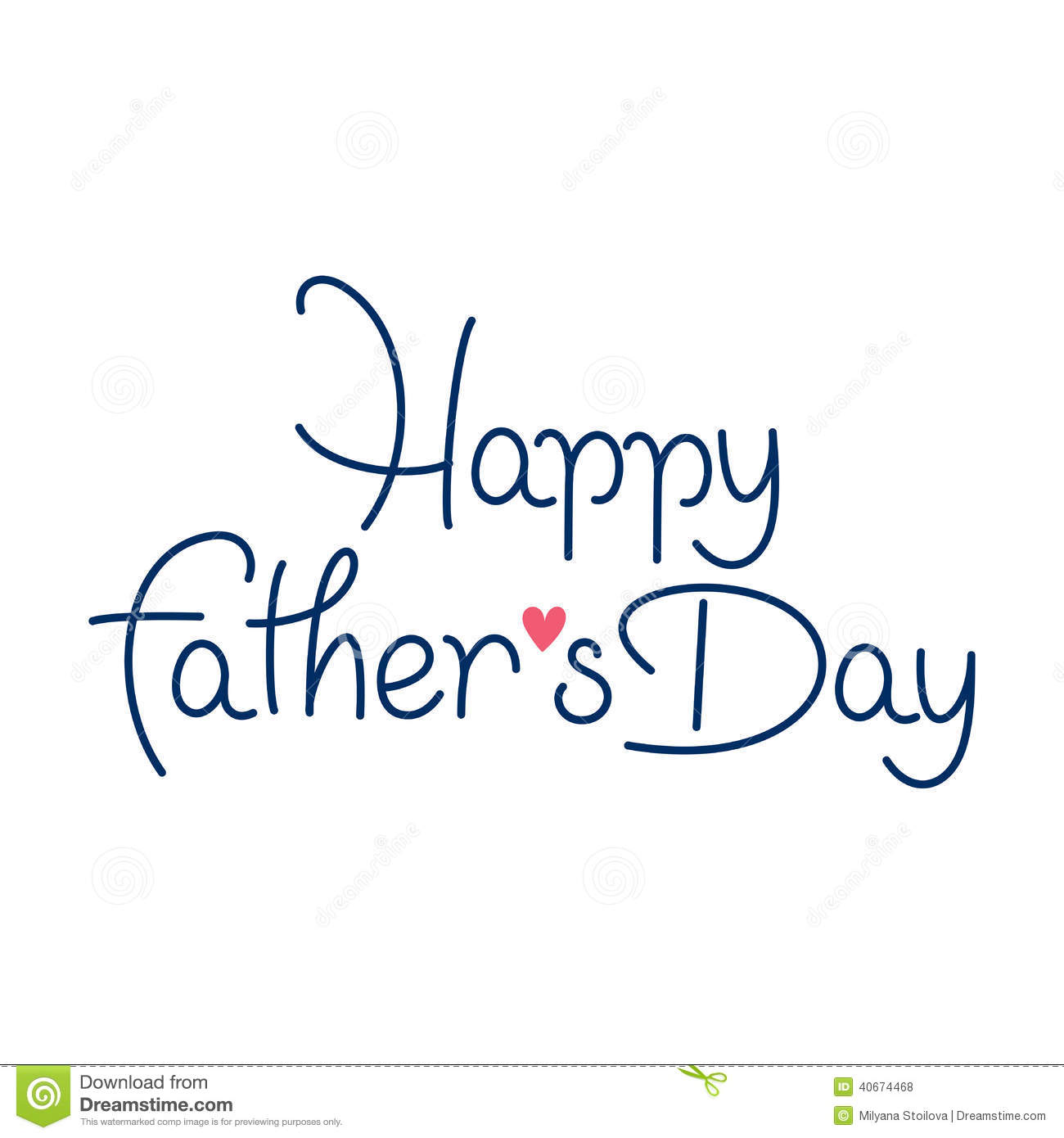 Vector happy fathers day stock image
