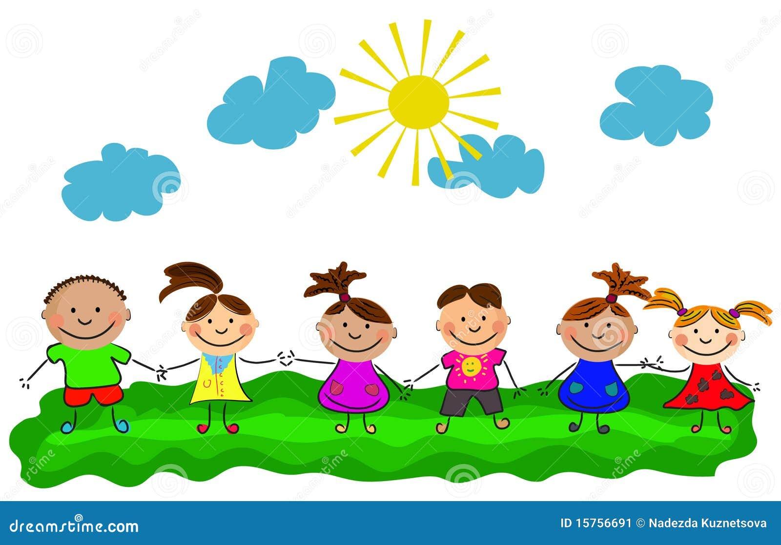 Vector happy kids stock vector. Illustration of diversity ...