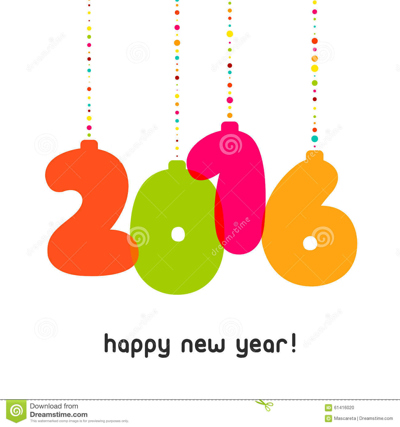 vector 2016 happy new year background