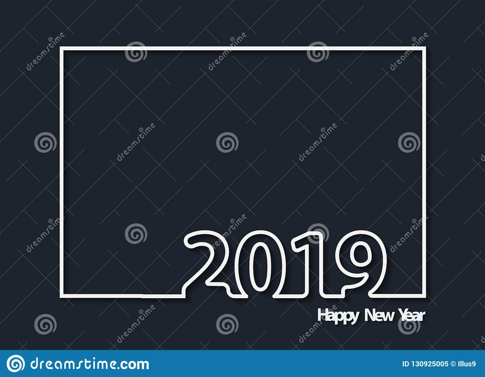 vector happy new 2019 year background flyers