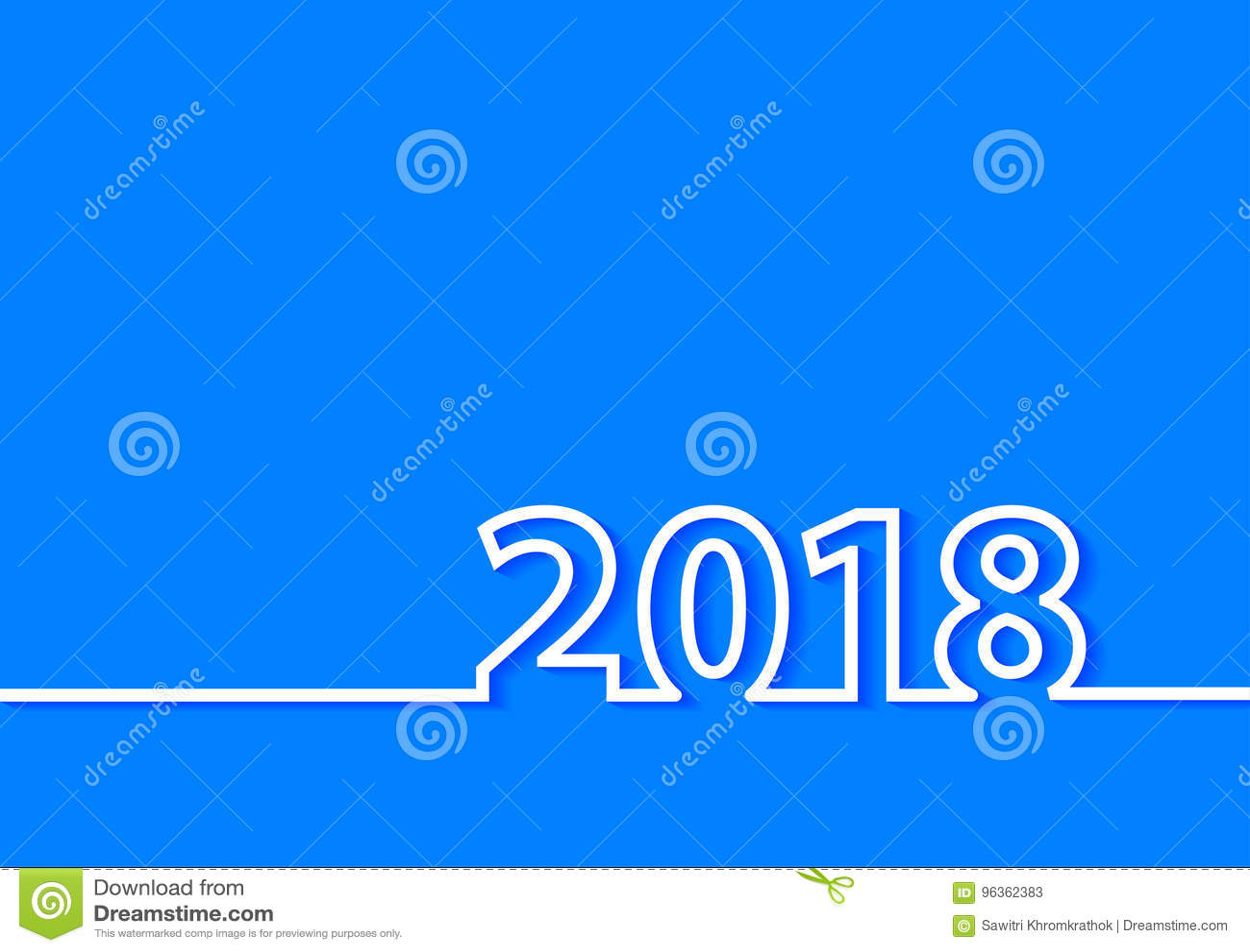 Vector 2018 Happy New Year Creative Design Stock Vector