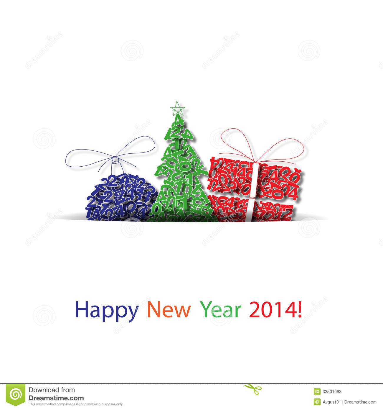 Vector Happy New Year Decoration Background Stock ...