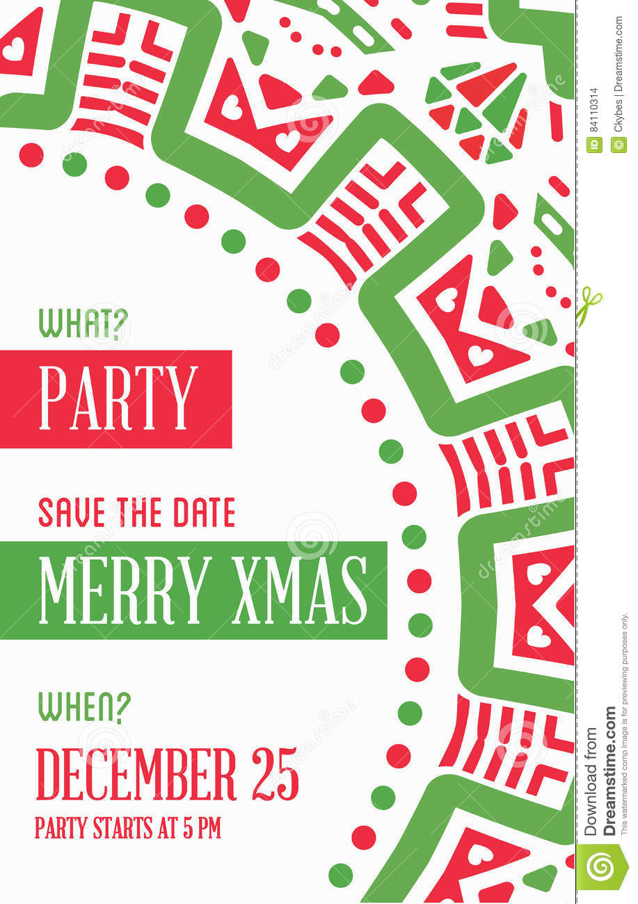 vector happy new year or merry christmas theme save the date inv - What Is The Date Of Christmas