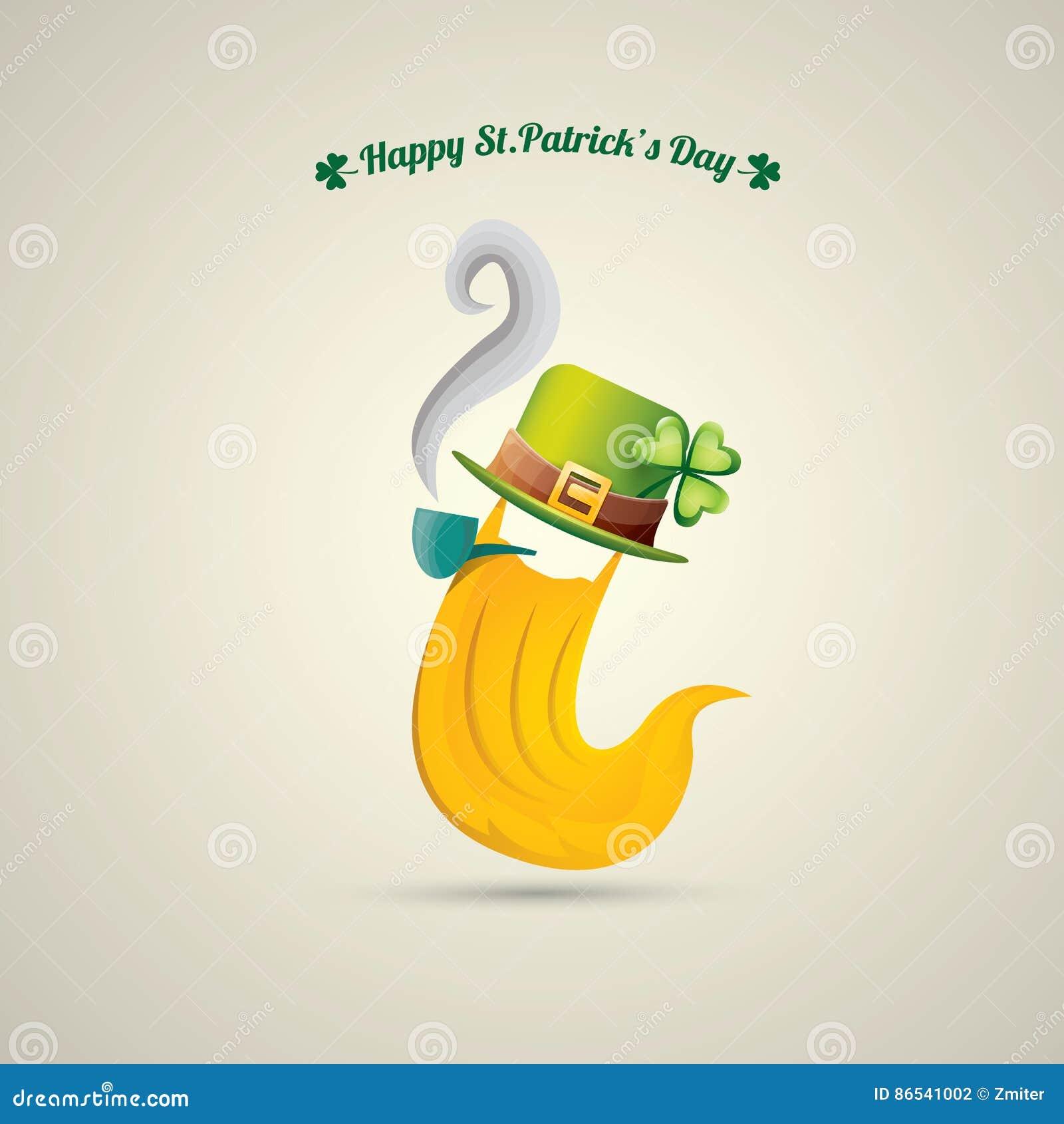 Vector Happy Saint Patricks Day Label Stock Vector Illustration Of