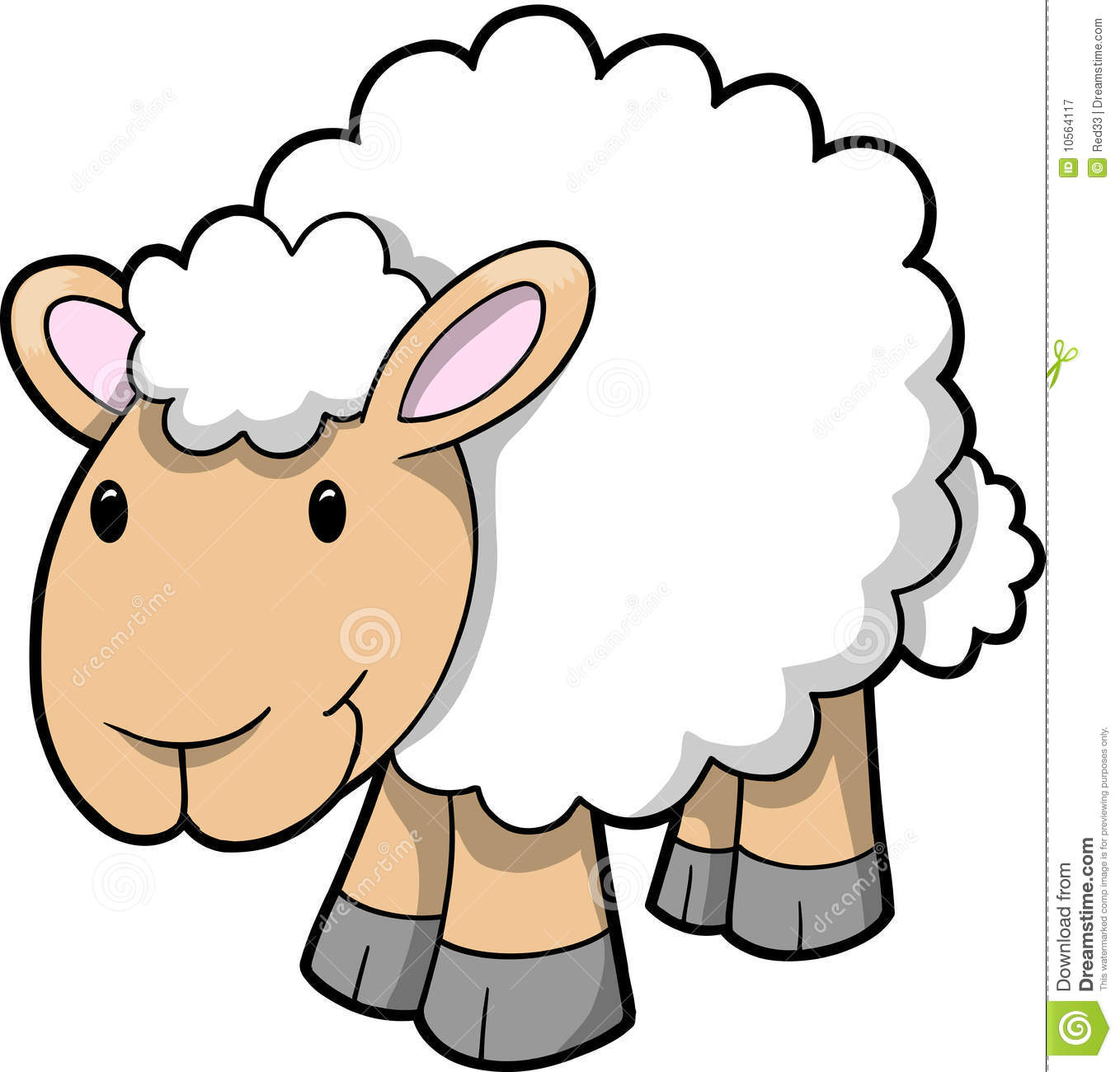 Vector Of Happy Sheep Royalty Free Stock Photography - Image: 10564117