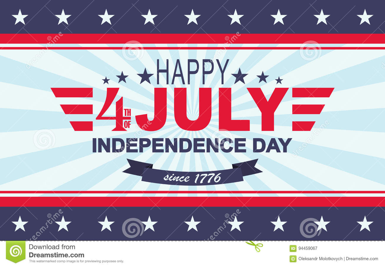 vector happy 4th of july background usa independence day template