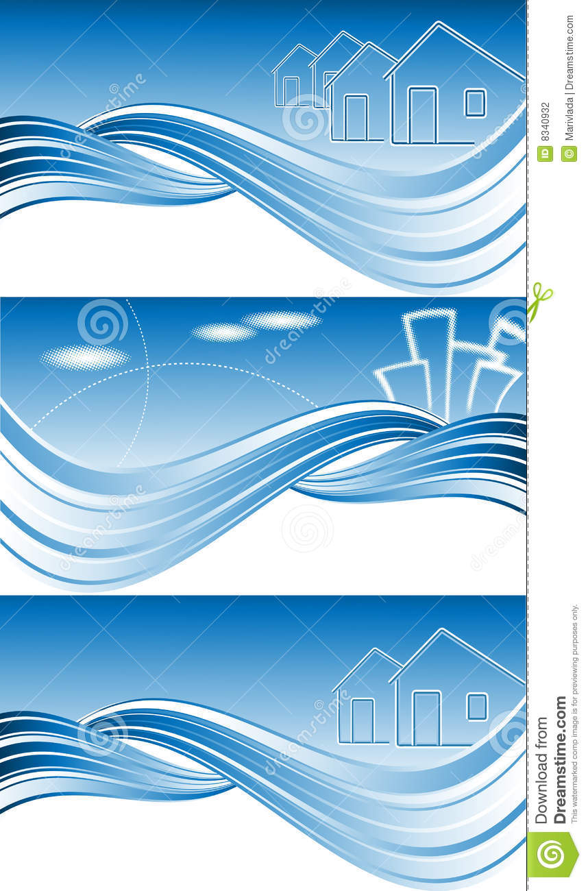 Vector Header For Real Estate Stock Vector Image 8340932