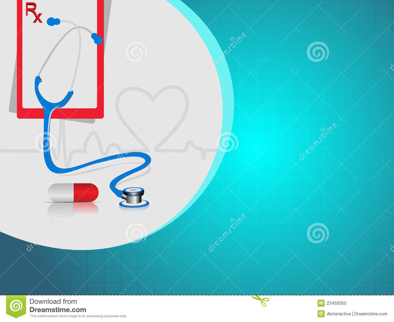 Vector Heart Beat Medical Background Stock Photo Image