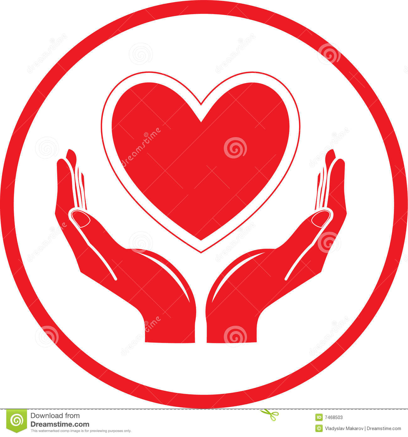 vector heart and hands icon stock photos image 7468503 Medical Sign Medical Sign