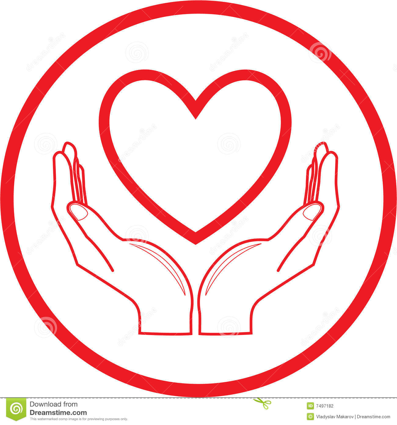 Vector Heart And Hands Icon Stock Photography