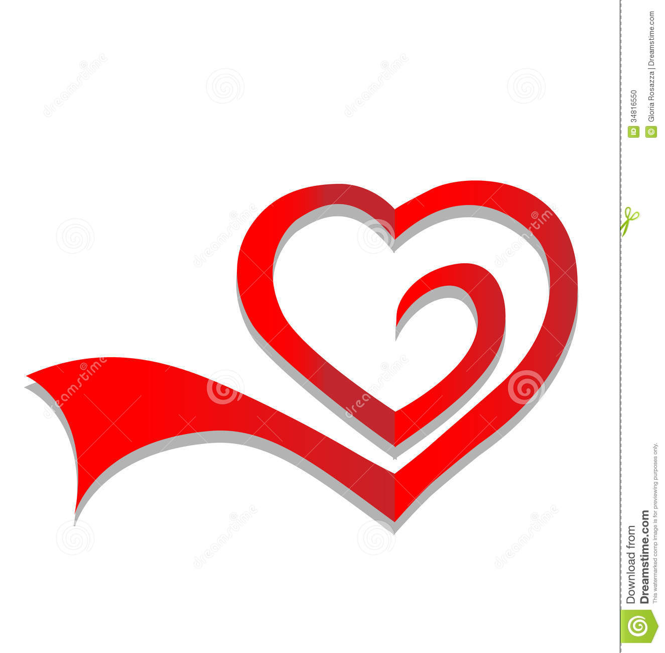 Vector Of Heart Logo Stock Photo - Image: 34816550