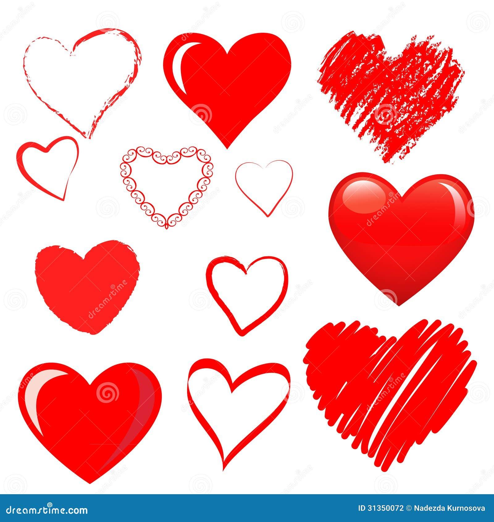 Vector Hearts Set Stock Photography - Image: 31350072