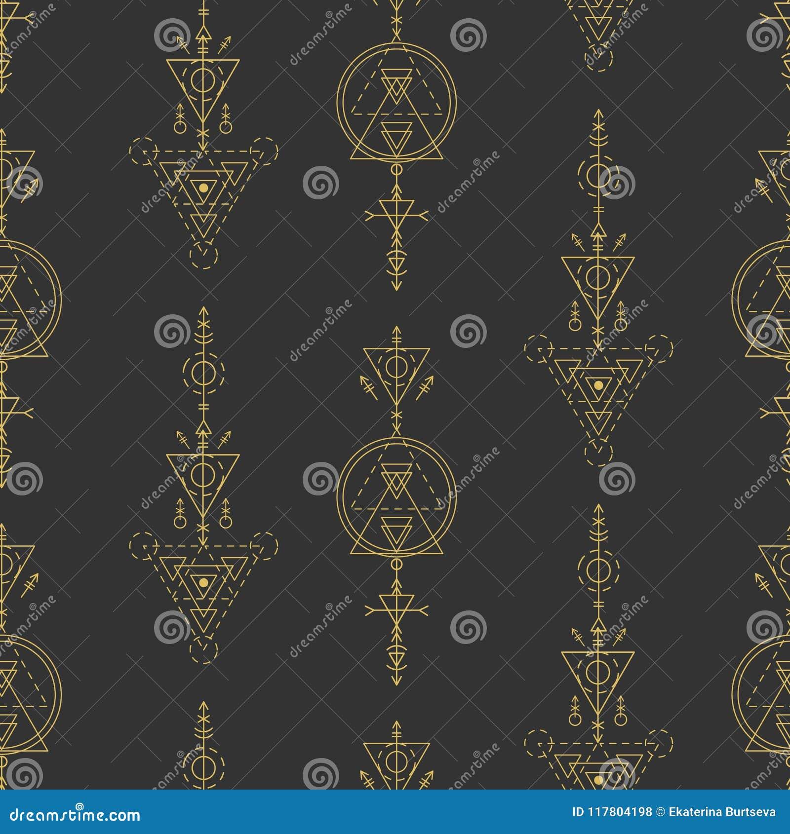 Vector heilig meetkunde naadloos patroon