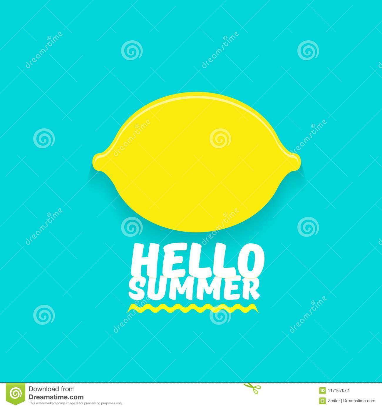 Azure Flyer Template | Vector Hello Summer Beach Party Flyer Design Template With Fresh