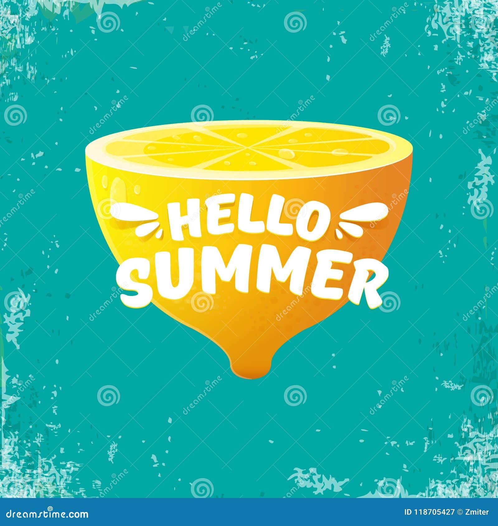 Azure Flyer Template | Vector Hello Summer Beach Party Flyer Design Template With Fresh